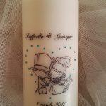 candele personalizzate matrimonio